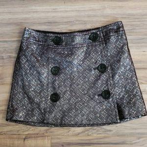 Express Metallic Mini Skirt